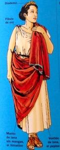 vestimenta grieg mujer