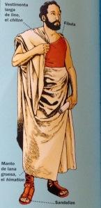 vestimenta griega hombre