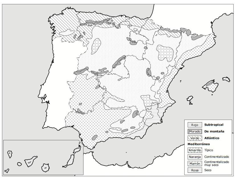Mapa Climatico De España Mudo.Mapas De Climas Para Completar Europa Y Espana Hola Mundo
