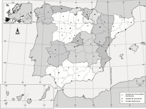 mapa polñitico España